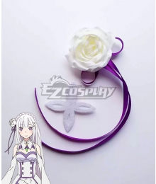 Re: Life In A DiffeRent World From Zero Emilia Headwear Cosplay Accessory Prop