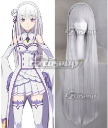Re: Life In A Different World From Zero Emilia Silver White Cosplay Wig