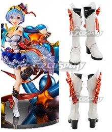 Re: Life In A Different World From Zero Rem Idol White Shoes Cosplay Boots
