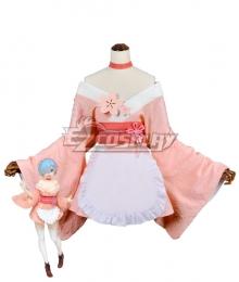 Re: Life In A Different World From Zero Sakura Rem Kimono Cosplay Costume