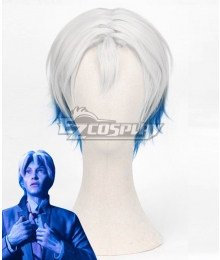 Ready Player One Parzival Wade Owen Watts White Blue Cosplay Wig