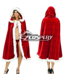 Christmas Princess Red Cloak Cosplay Custume