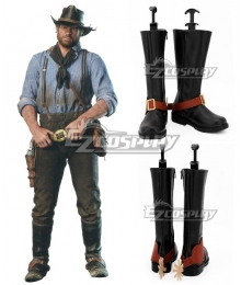 Red Dead: Redemption 2 Arthur Morgan Black Shoes Cosplay Boots