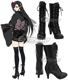 Final Fantasy VII Remake Tifa Lockhart Kimono Black Shoes Cosplay Boots