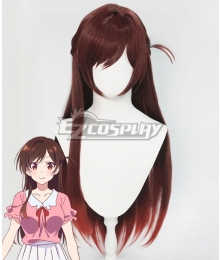 Rent a Girlfriend Kanojo Okarishimasu Chizuru Ichinose Mizuhara Chizuru Brown Cosplay Wig
