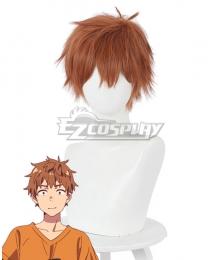 Rent a Girlfriend Kanojo Okarishimasu Kazuya Kinoshita Brown Cosplay Wig