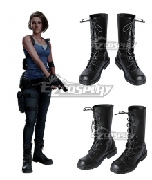Resident Evil 3 Remake Jill Valentine Brown Shoes Cosplay Boots