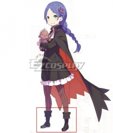 Re:Zero Re: Life In A Different World From Zero Meili Portroute Black Cosplay Shoes