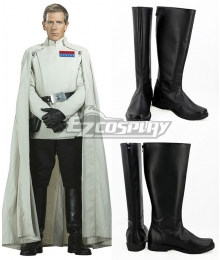 Rogue One A Star Wars Story Orson Krennic Black Shoes Cosplay Boots