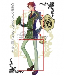 Rose Guns Days Philip Butler Cosplay Costume -Only Jacket and Trousers