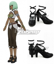 RWBY Emerald Sustrai Black Cosplay Shoes