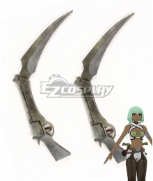 RWBY Emerald Sustrai Two Guns Cosplay Weapon Prop