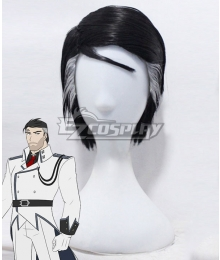 RWBY James Ironwood Black White Cosplay Wig