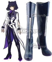 RWBY Volume 7 Blake Belladonna Black Shoes Cosplay Boots