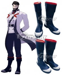 RWBY Volume 7 James Ironwood Blue Shoes Cosplay Boots