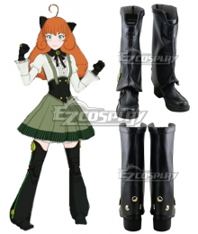 RWBY Volume 7 Penny Polendina Black Shoes Cosplay Boots