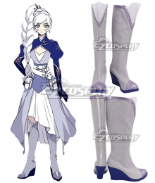 RWBY Volume 7 Weiss Schnee Purple Shoes Cosplay Boots