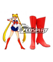 Sailor Moon Usagi Tsukino Red Cosplay Boots