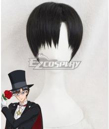Sailor Moon Crystal Tuxedo Mask Mamoru Chiba Black Cosplay Wig