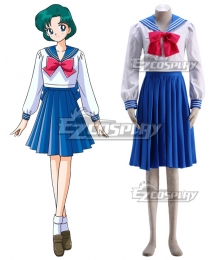 Sailor Moon Mizuno Ami Amy Anderson Sailor Mercury Sailor Suit Cosplay Costume