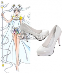 Sailor Moon Stars Sailor Cosmos Chibi Chibi White Cosplay Shoes