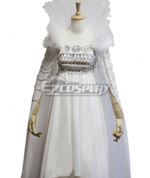 Sailor Moon Usagi Tsukino White Dress Cosplay Costume