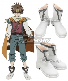 Saiyuki Reload Blast Son Goku White Cosplay Shoes