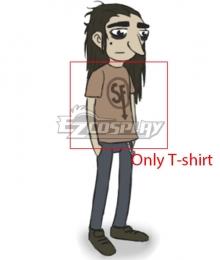 Sally Face Larry Johnson T-Shirt Cosplay Costume