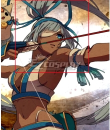 Samurai Shodown Mina Majikina Grey Cosplay Wig