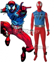 Scarlet Spider Spiderman Ben Reilly Peter Parker Joe Wade Kaine Parker Cosplay Costume