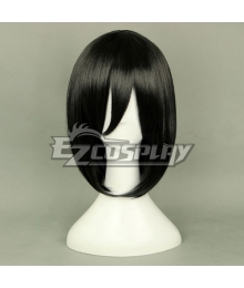Attack on Titan Shingeki no Kyojin Mikasa Akkaman Mikasa Ackerman Black Coplay Wig 320F