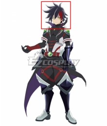 Shironeko Project Zero Chronicle Prince of Darkness Black Red Cosplay Wig