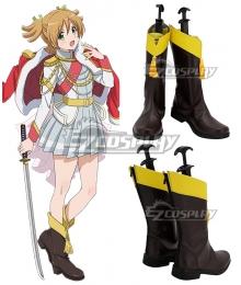 Shoujo Kageki Revue Starlight Nana Daiba Brown Shoes Cosplay Boots
