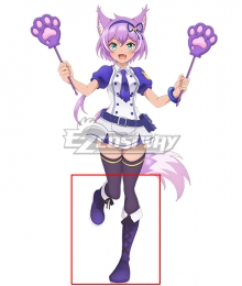 SHOW BY ROCK!! Mashumairesh!! Ruhuyu Purple Shoes Cosplay Boots