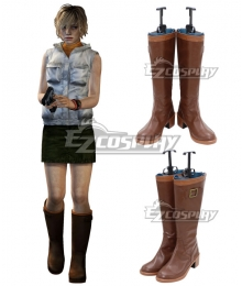 Silent Hill Heather Mason Halloween Brown Shoes Cosplay Boots