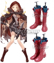 SINoALICE Little Red Riding Hood Red Shoes Cosplay Boots
