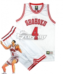 Slam Dunk Akagi Takenori White Shohoku Cosplay Costume