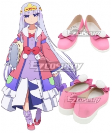 Sleepy Princess In The Demon Castle Princess Syalis Pink Cosplay Shoes