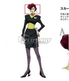 Space Dandy Scarlet Purple Cosplay Wig