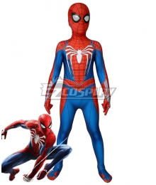 Kids Marvel 2002 Movie Spider-Man  Tobey Maguire Jumpsuit Cosplay Costume