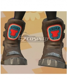 Splatoon Inkling Black Shoes Cosplay Boots