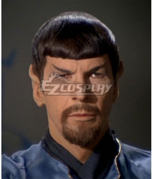Star Trek Mirror Mirror Spock Black Cosplay Wig - Wig +Moustache