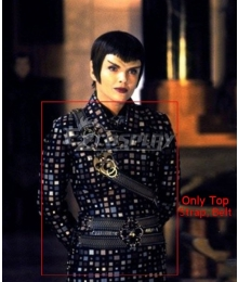 Star Trek Nemesis Romulan Cosplay Costume-Only Top, Belt and Strap