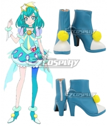 Star Twinkle PreCure Cure Milky Hagoromo Lala Blue White Cosplay Shoes
