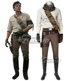 Star Wars 9 The Rise of Skywalker Poe Dameron Cosplay Costume