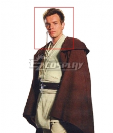 Star Wars Jedi Brown Cosplay Wig