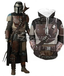 Star Wars Mandalorian Uniform Hoodie Cosplay Costume