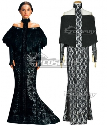 Star Wars Padme Amidala Black Dress Cosplay Costume
