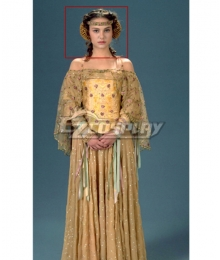 Star Wars Padme Amidala Picnic Brown Cosplay Wig