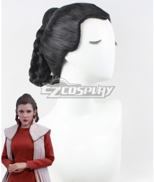 Star Wars Princess Leia Bespin Black Cosplay Wig